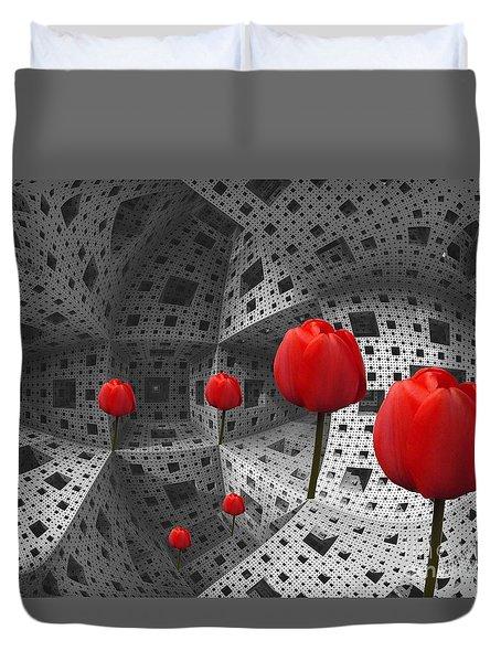 a way in Menger's sponge Duvet Cover