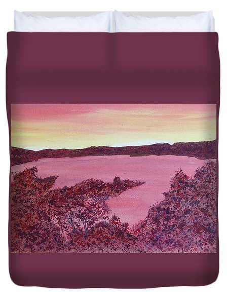 Duvet Cover featuring the painting A Wee Bit O Heaven  by Joel Deutsch