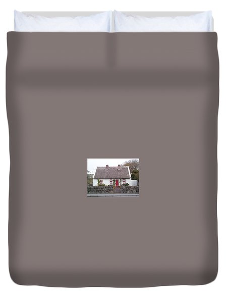 Duvet Cover featuring the photograph A Wee Small Cottage by Charles Kraus