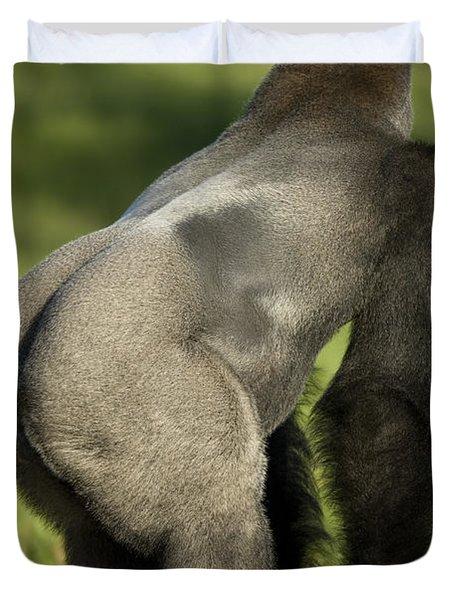A Western Lowland Gorilla Duvet Cover