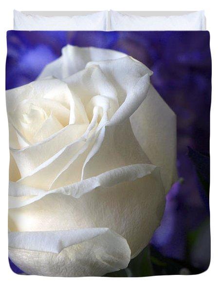 A White Rose Duvet Cover