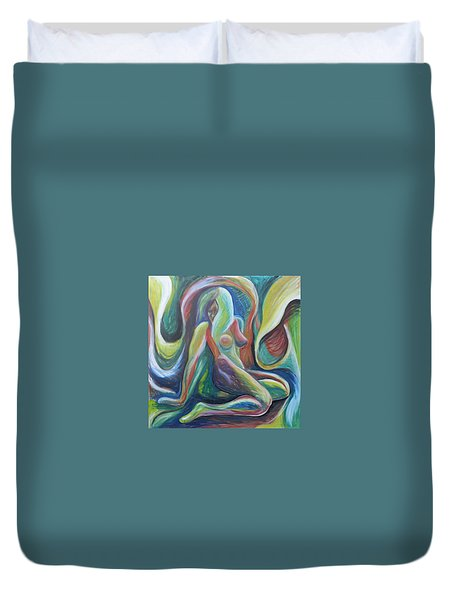 A Whole Other World Duvet Cover