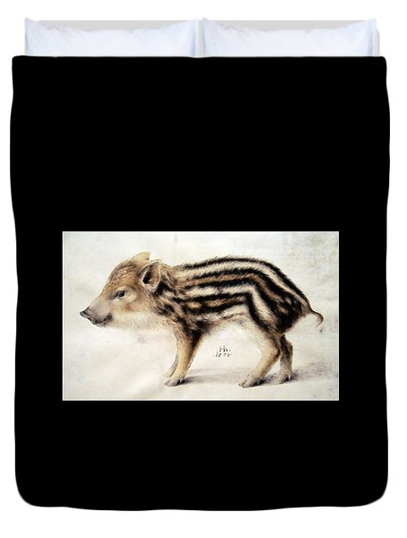 A Wild Boar Piglet Duvet Cover