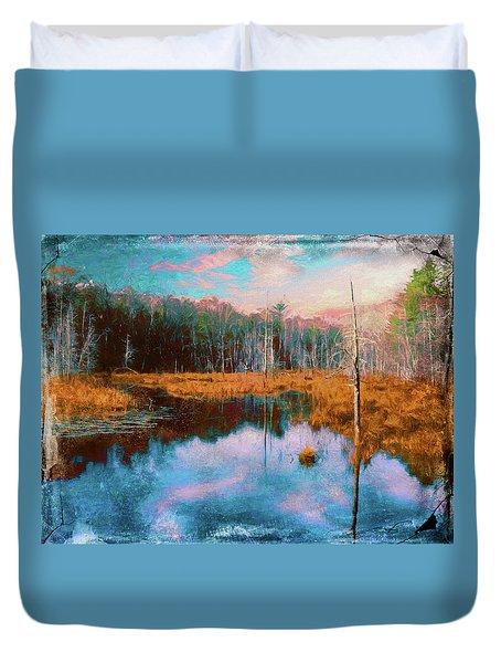 A Wilderness Marsh Duvet Cover