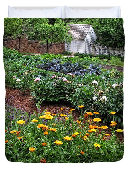 A Williamsburg Garden Duvet Cover