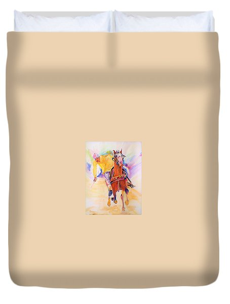 A Win Duvet Cover by Khalid Saeed