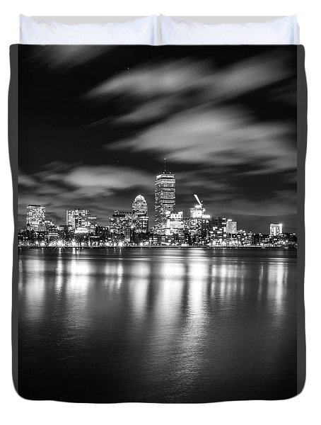 A Windy Night In Boston Duvet Cover