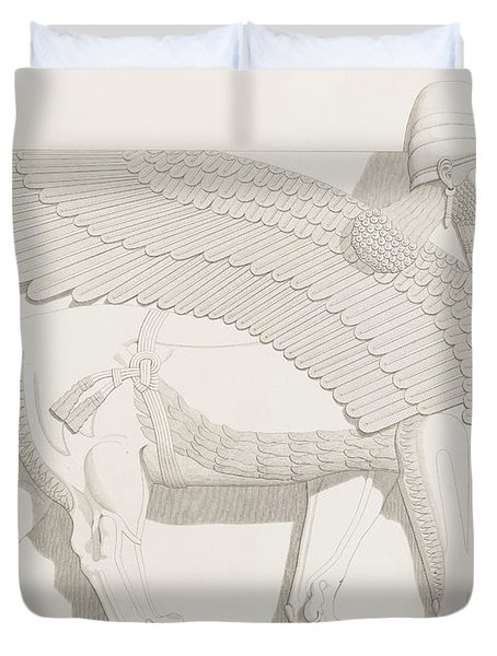 A Winged Human-headed Lion From Nimroud Duvet Cover