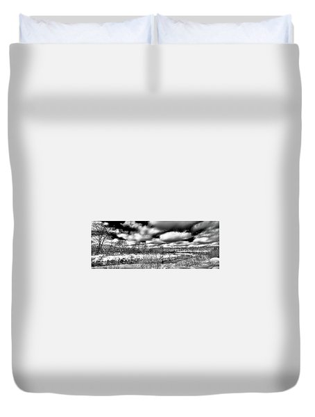Duvet Cover featuring the photograph A Winter Panorama by David Patterson