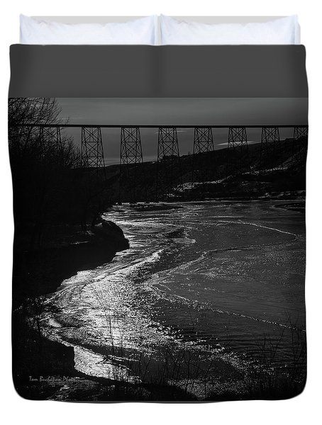 A Winter River Duvet Cover