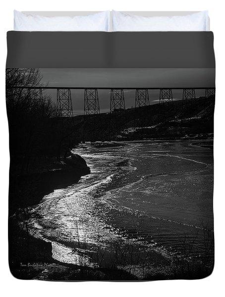 A Winter River Duvet Cover