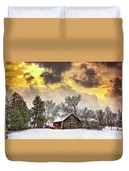 A Winter Sky Duvet Cover