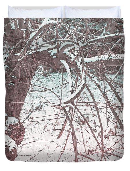A Winter Tree Duvet Cover
