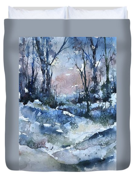 A Winter's Eve Duvet Cover