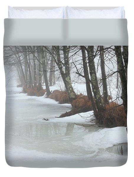 A Winter's Scene Duvet Cover by Karol Livote