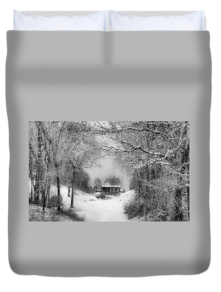 A Winter's Tale In Centerport New York Duvet Cover