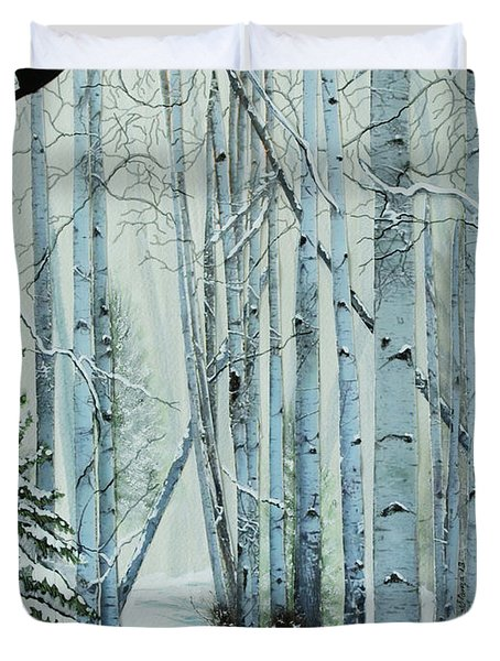 A Winter's Tale Duvet Cover by Stanza Widen