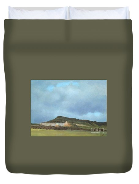 A Wintry Day In Abiquiu Duvet Cover