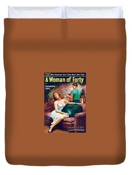 A Woman Of Forty Duvet Cover