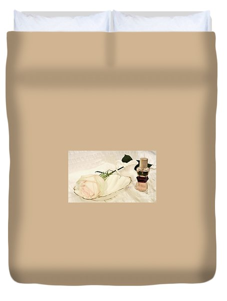 Duvet Cover featuring the photograph A Womans Touch by Marsha Heiken
