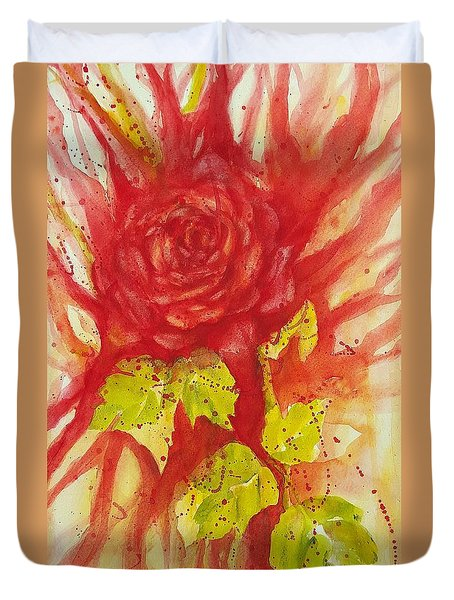 A Wounded Rose Duvet Cover