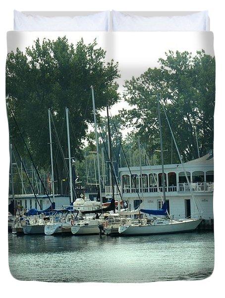 A Yacht Club Duvet Cover by Ian  MacDonald