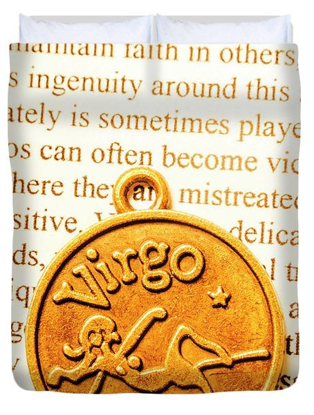 A Zodiac Theme In Virgo Duvet Cover