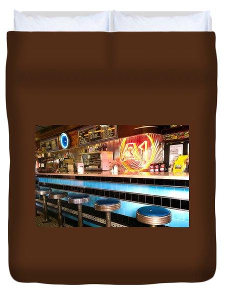 A1 Diner In Gardiner, Maine Duvet Cover