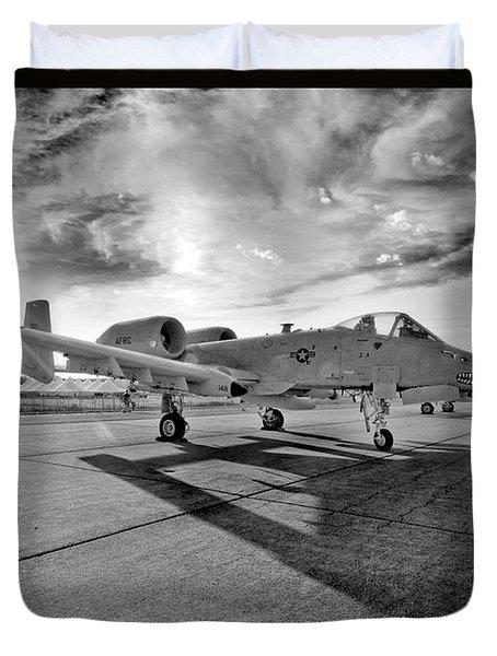 A10 Thunderbolt Duvet Cover by Greg Fortier
