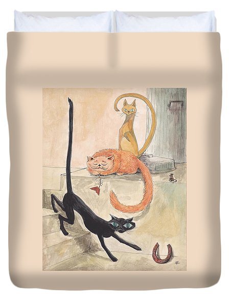 Lucky 13 Duvet Cover by Charles Cater