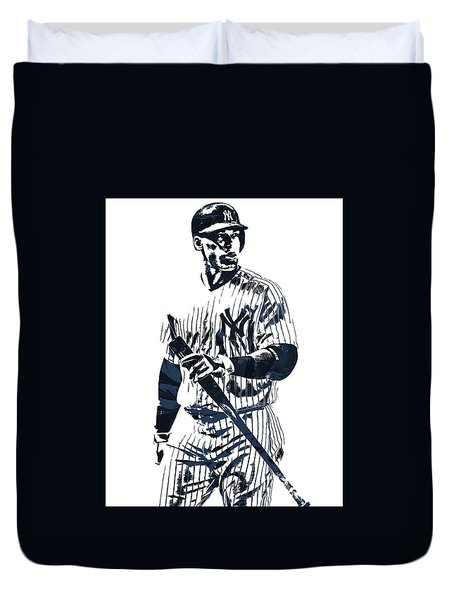 Aaron Judge New York Yankees Pixel Art 12 Duvet Cover