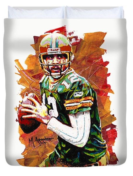 Aaron Rodgers Duvet Cover