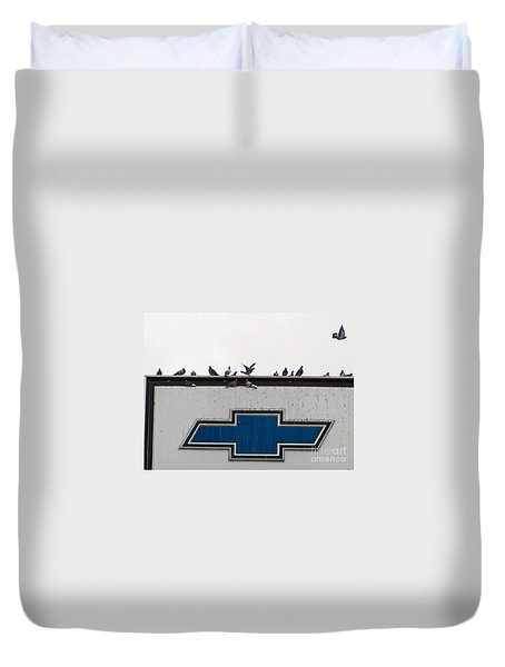 The Perfect Perch Duvet Cover by Sandra Church