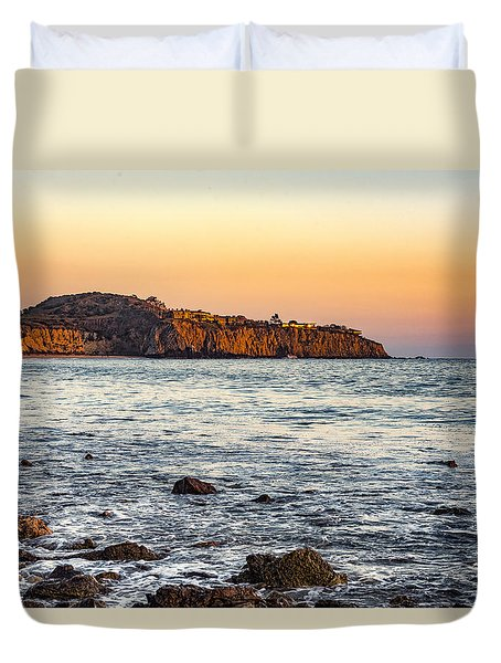 Duvet Cover featuring the photograph Abalone Point Sunset by Anthony Baatz