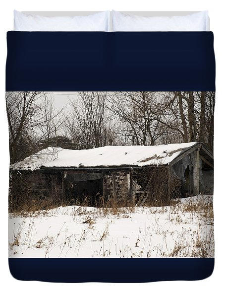 Abandoned And Cold Duvet Cover by Elaine Mikkelstrup