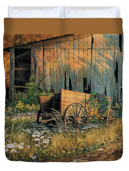 Abandoned Beauty Duvet Cover by Michael Humphries