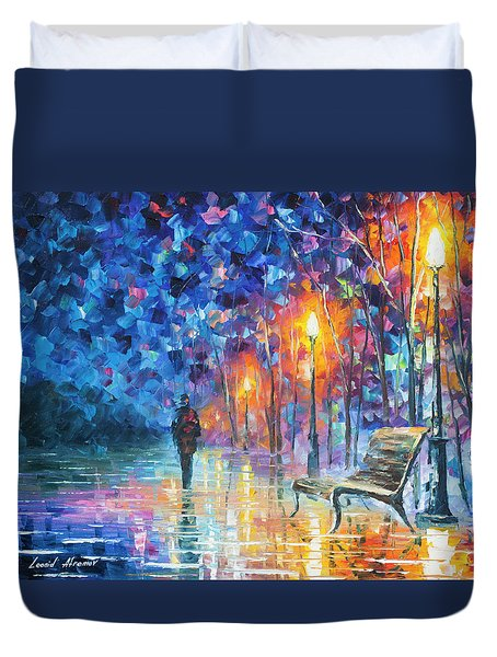 Abandoned By Winter Duvet Cover by Leonid Afremov