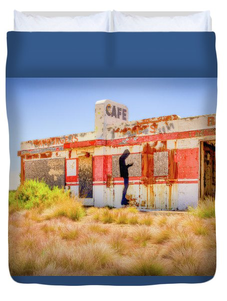 Abandoned Cafe Duvet Cover by David Cote