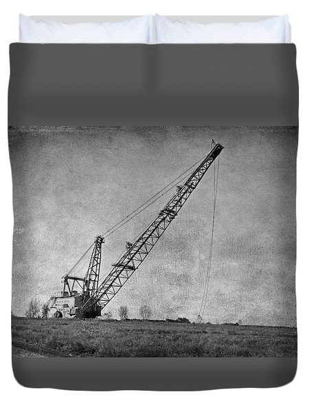 Abandoned Dragline Duvet Cover