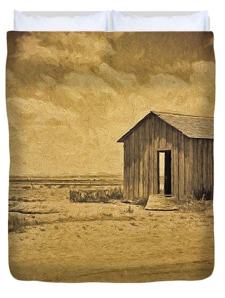 Abandoned Dust Bowl Home Duvet Cover