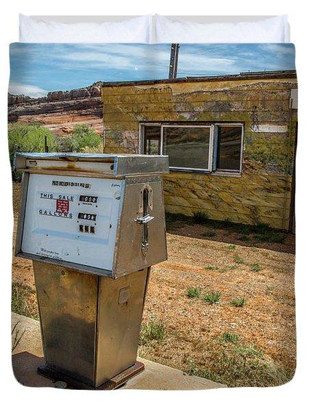 Abandoned Gas Station Duvet Cover