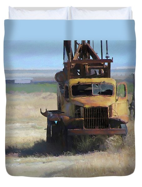 Abandoned Gmc Drill Rig Duvet Cover