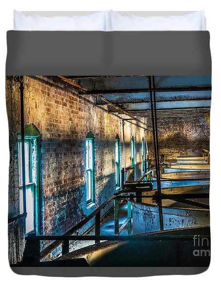 Abandoned Grain Vats Duvet Cover by Darleen Stry