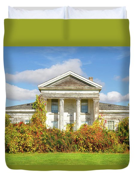 Abandoned Greek Revival Duvet Cover