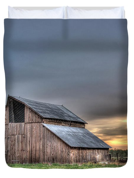 Duvet Cover featuring the photograph Abandoned by Jim and Emily Bush