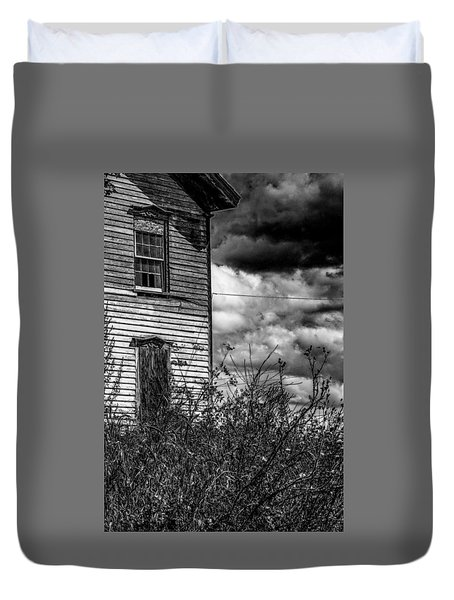 Duvet Cover featuring the photograph Abandoned by Kendall McKernon