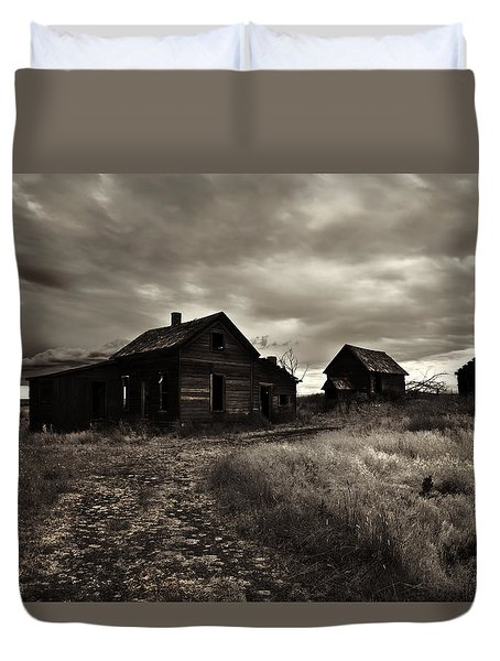 Abandoned Duvet Cover by Mike  Dawson