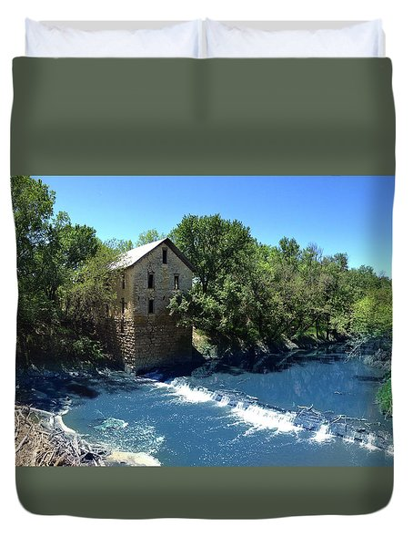 Abandoned Mill At Cedar Point Duvet Cover by Rod Seel