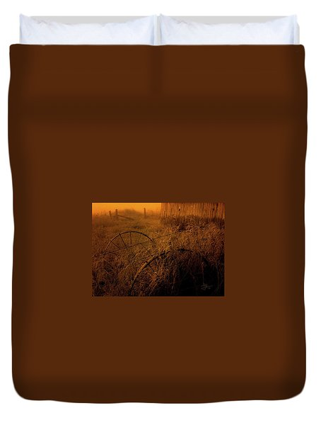 Duvet Cover featuring the photograph Abandoned Near Joyceville Road by Jim Vance