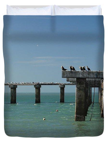 Abandoned Pier Duvet Cover